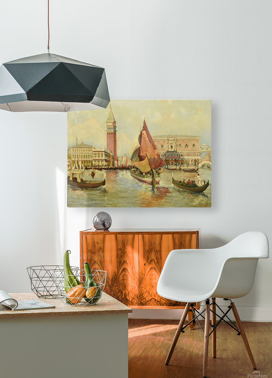 Venice city view  HD Metal print with Floating Frame on Back