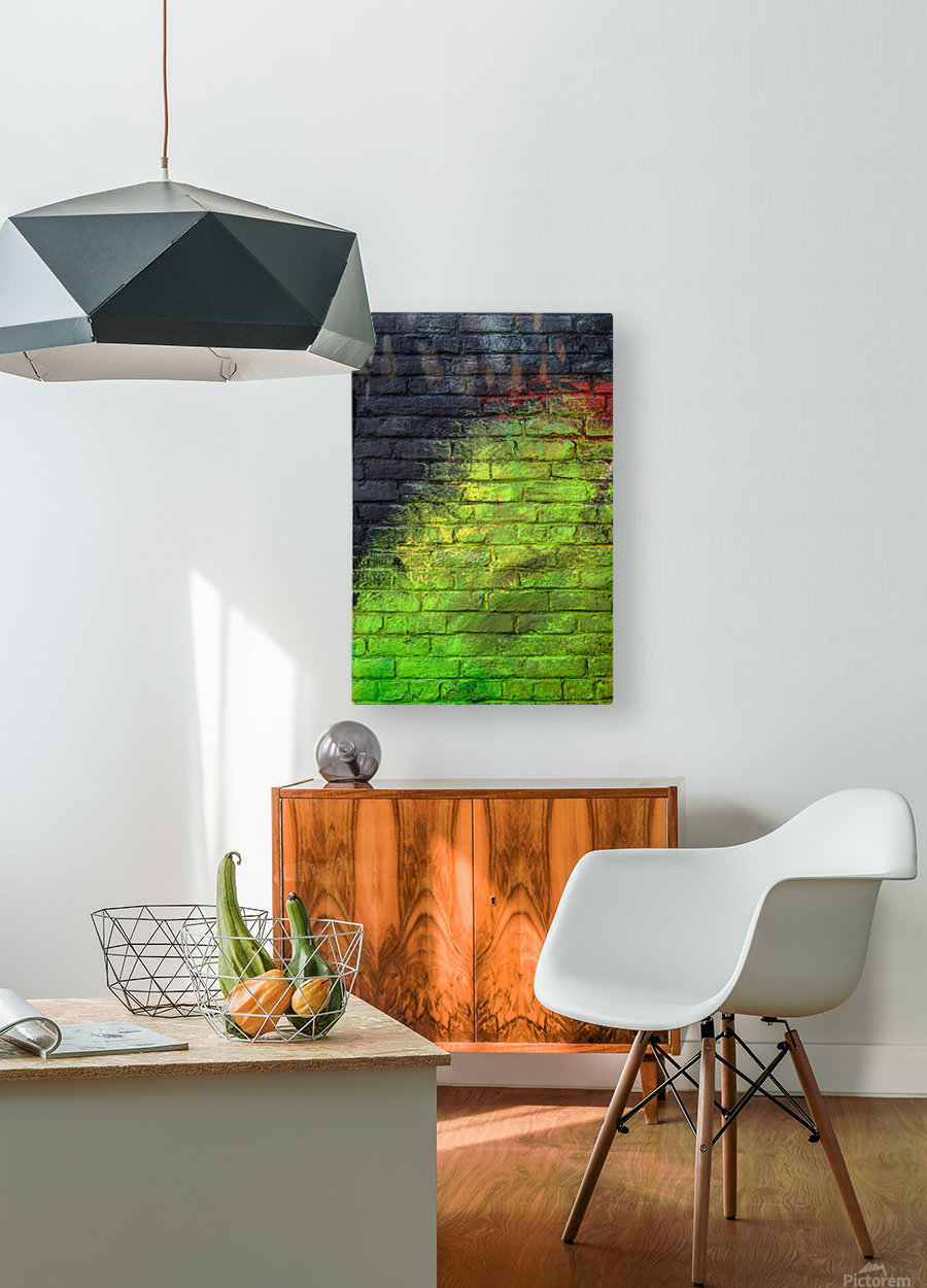 The Green Wall  HD Metal print with Floating Frame on Back