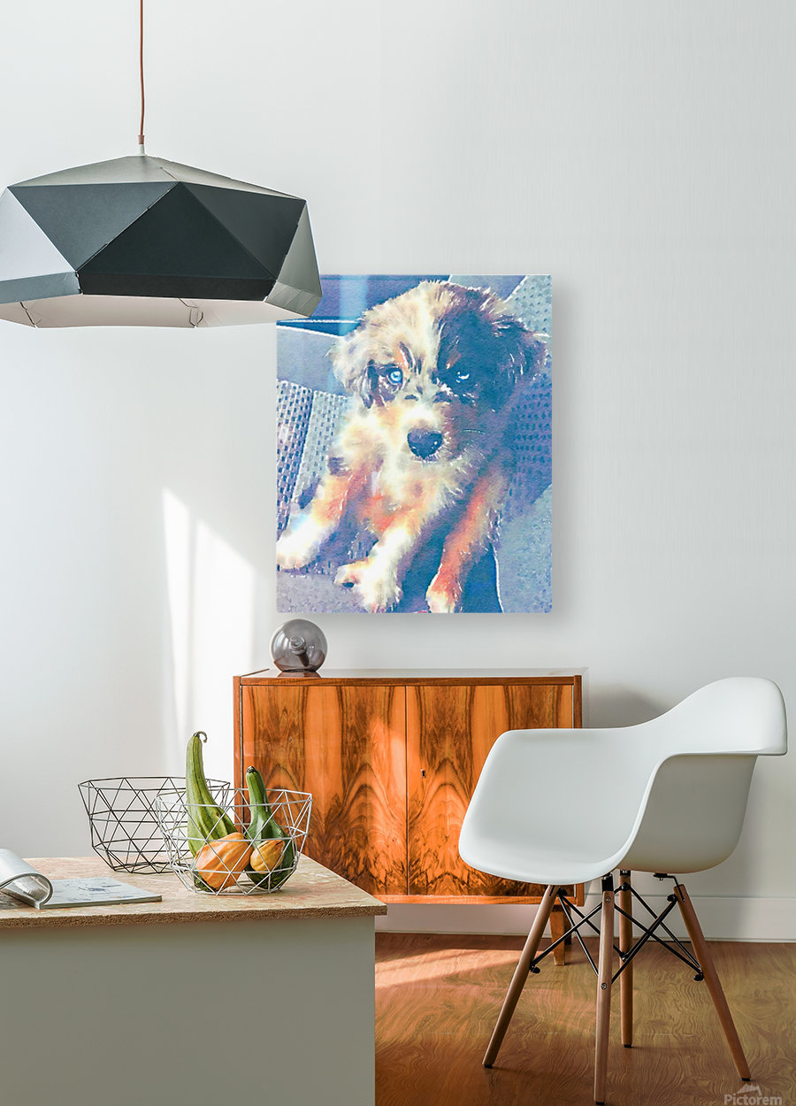 My best friend in Watercolor  HD Metal print with Floating Frame on Back