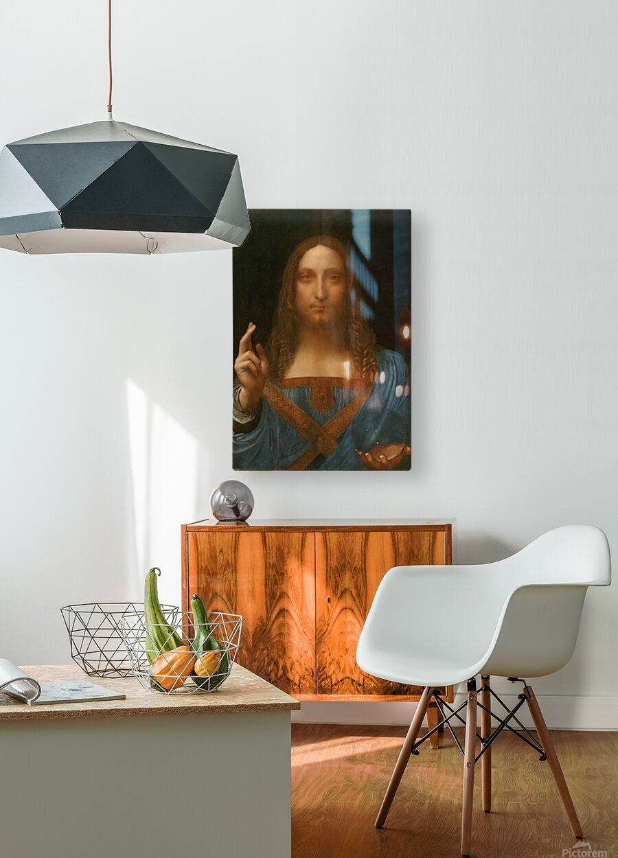 Salvator Mundi  HD Metal print with Floating Frame on Back