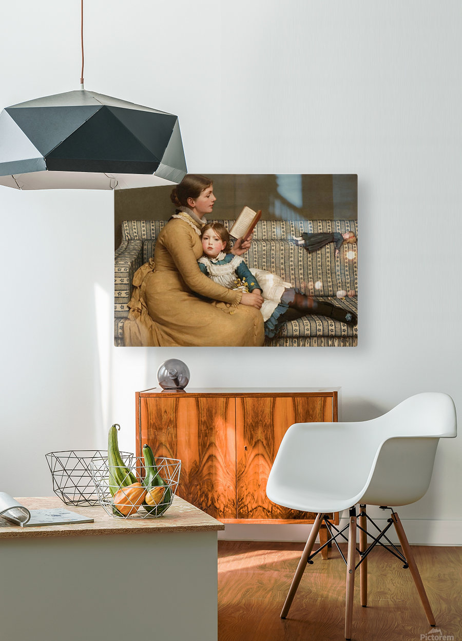 Alice in Wonderland  HD Metal print with Floating Frame on Back