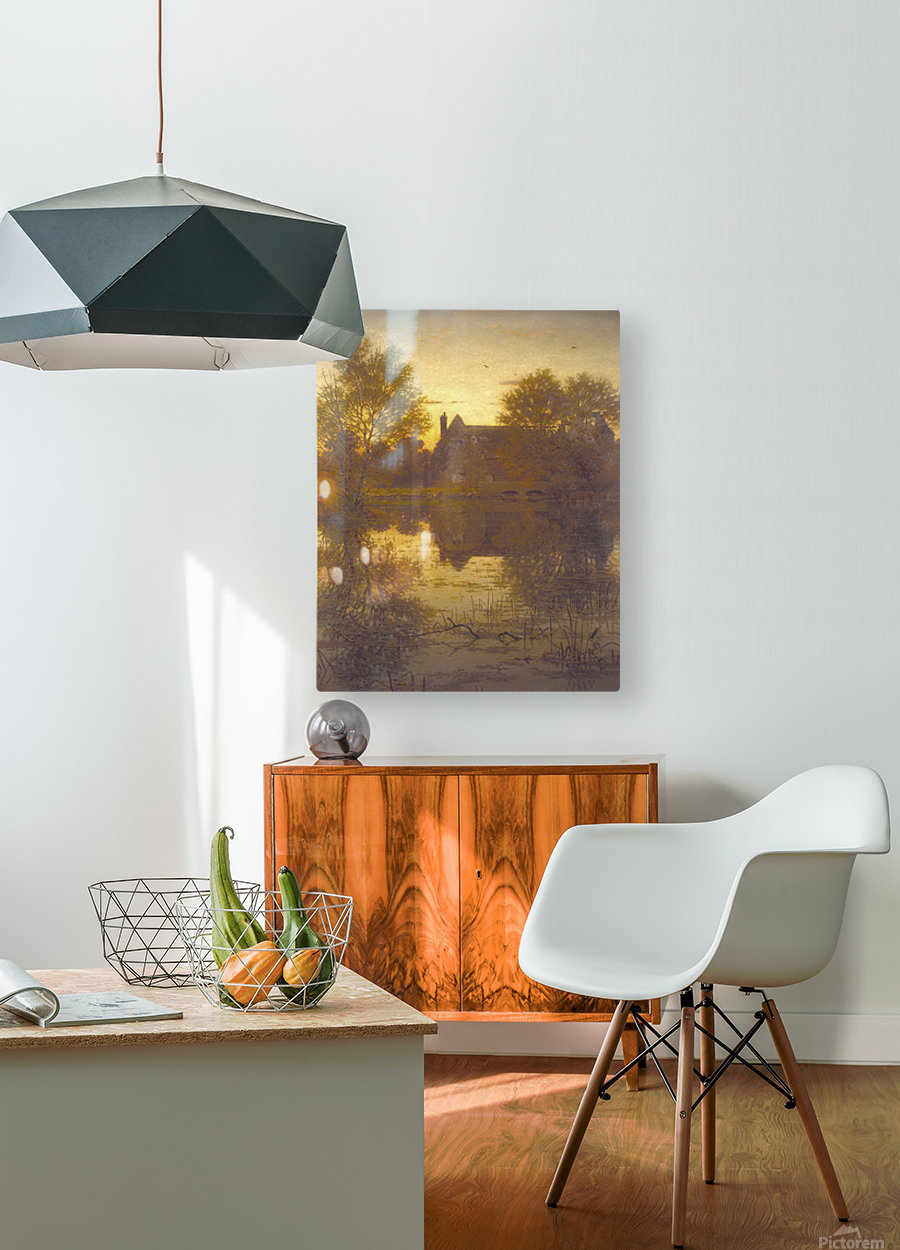 The deserted mill  HD Metal print with Floating Frame on Back