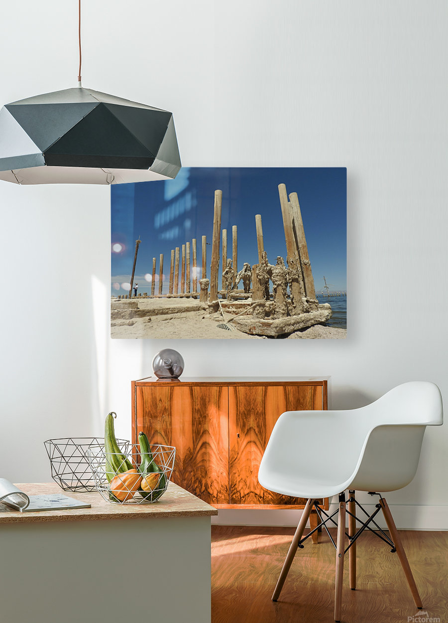 The Time Between  HD Metal print with Floating Frame on Back