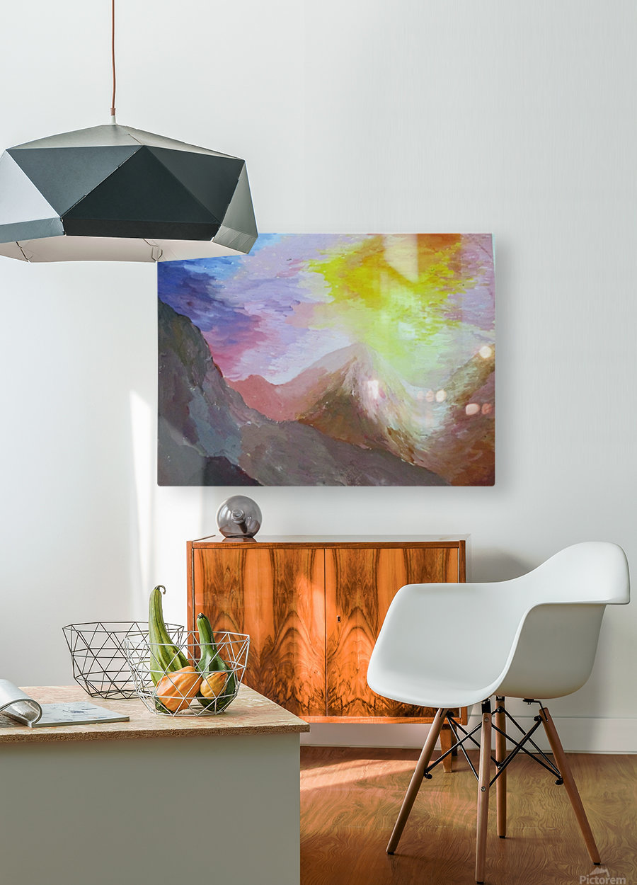 evening  HD Metal print with Floating Frame on Back