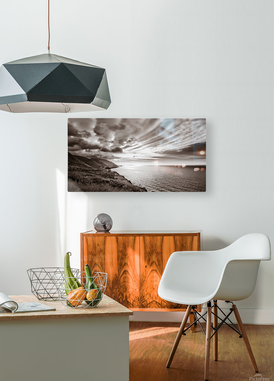 Breakthrough Skies  HD Metal print with Floating Frame on Back