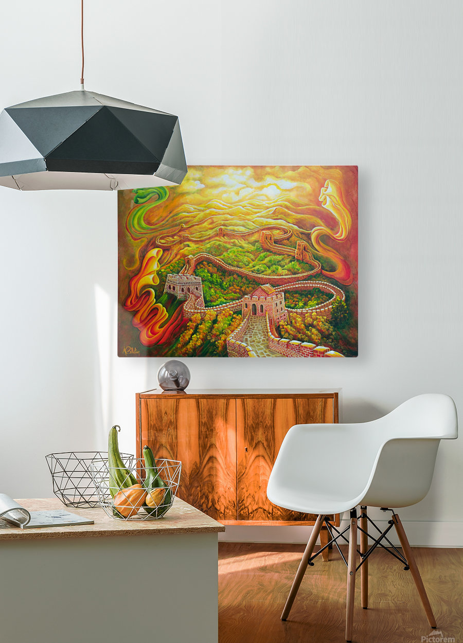 Dragon's eye view  HD Metal print with Floating Frame on Back