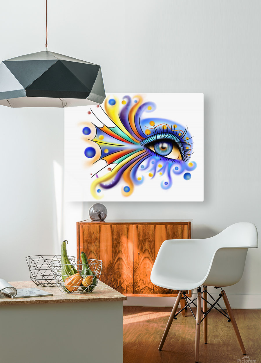 Arubissina V2 - fish eye  HD Metal print with Floating Frame on Back