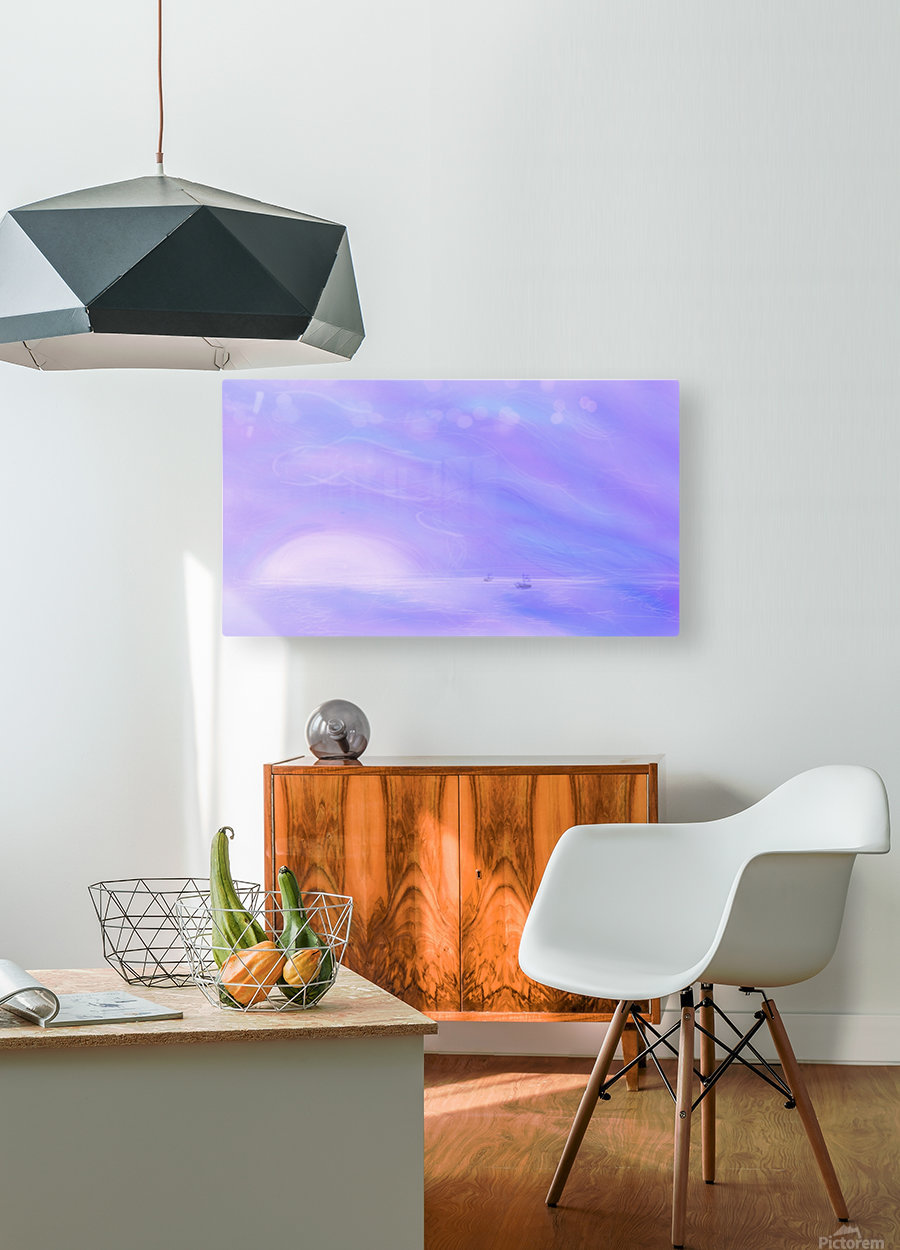 A Maui Twilight Setting  HD Metal print with Floating Frame on Back
