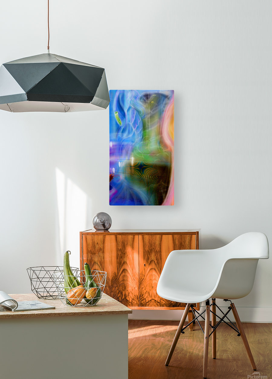 Three Points  HD Metal print with Floating Frame on Back