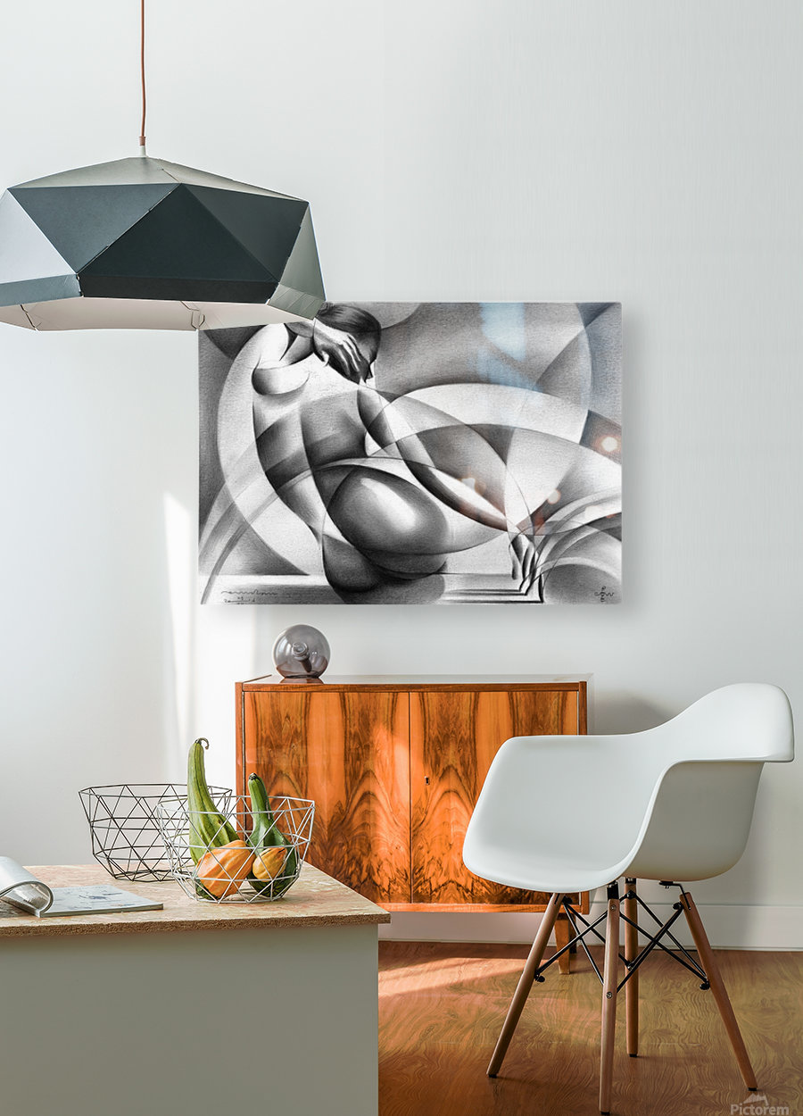 Roundism - 29-07-16  HD Metal print with Floating Frame on Back