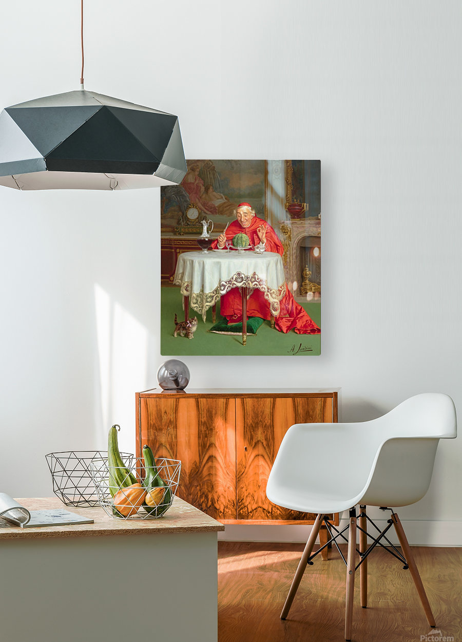 The melon  HD Metal print with Floating Frame on Back
