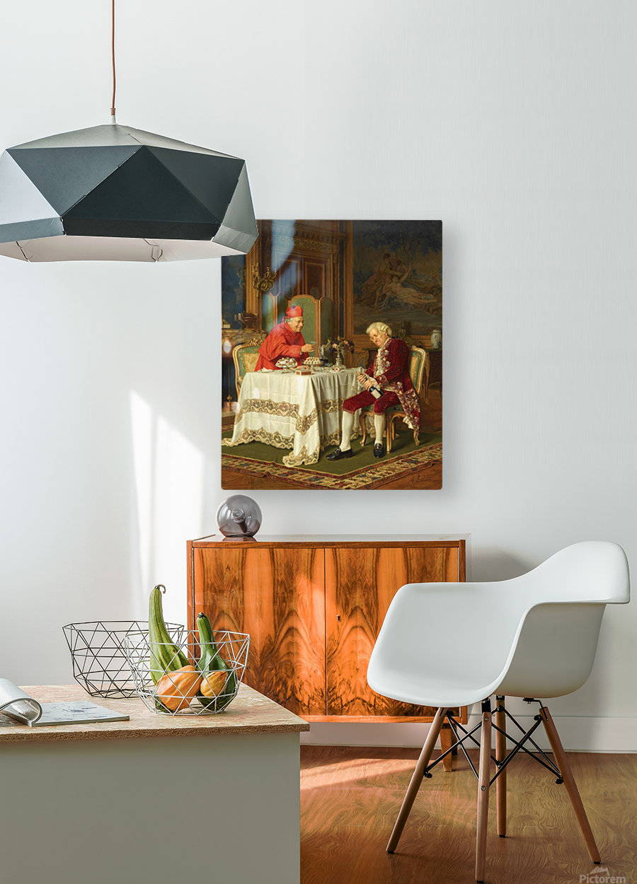 A good bottle  HD Metal print with Floating Frame on Back