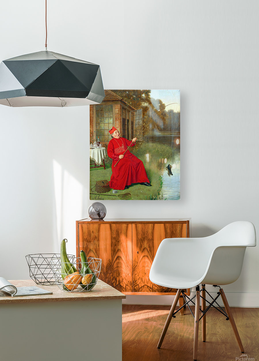 The catch  HD Metal print with Floating Frame on Back