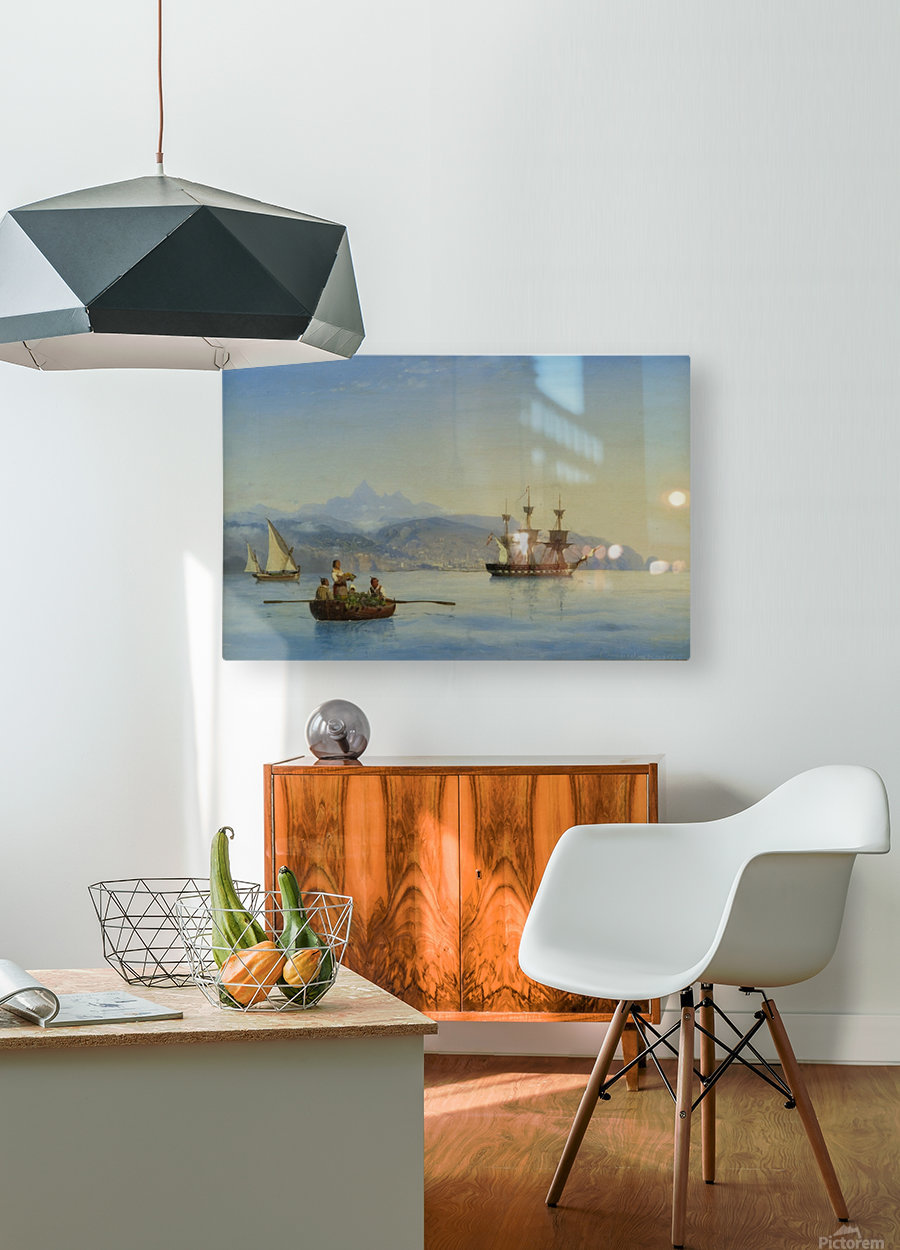 Bay of Palermo, Sicily  HD Metal print with Floating Frame on Back