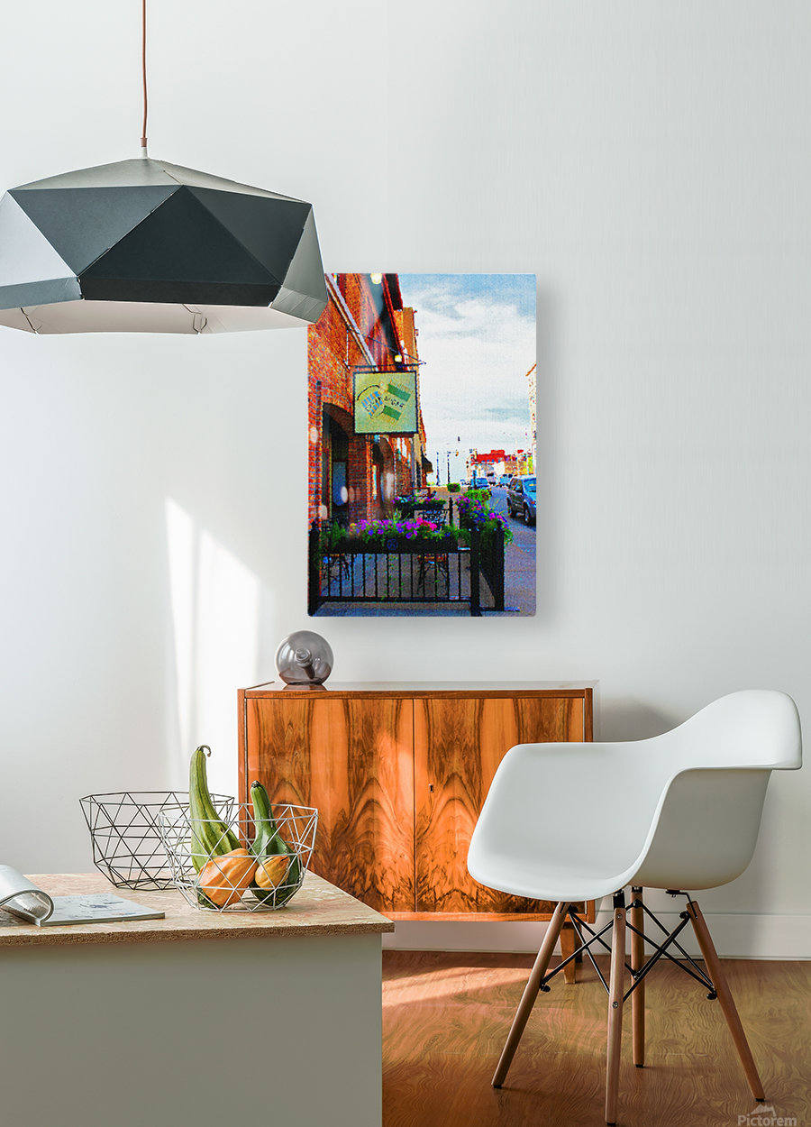 Downtown Kankakee Cafe  HD Metal print with Floating Frame on Back