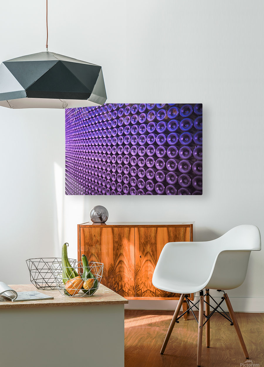 Wine Wall  HD Metal print with Floating Frame on Back