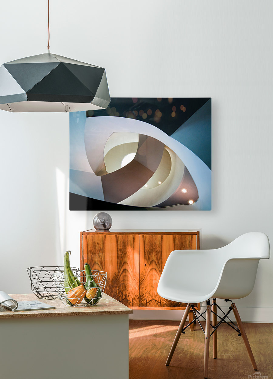 Top light  HD Metal print with Floating Frame on Back