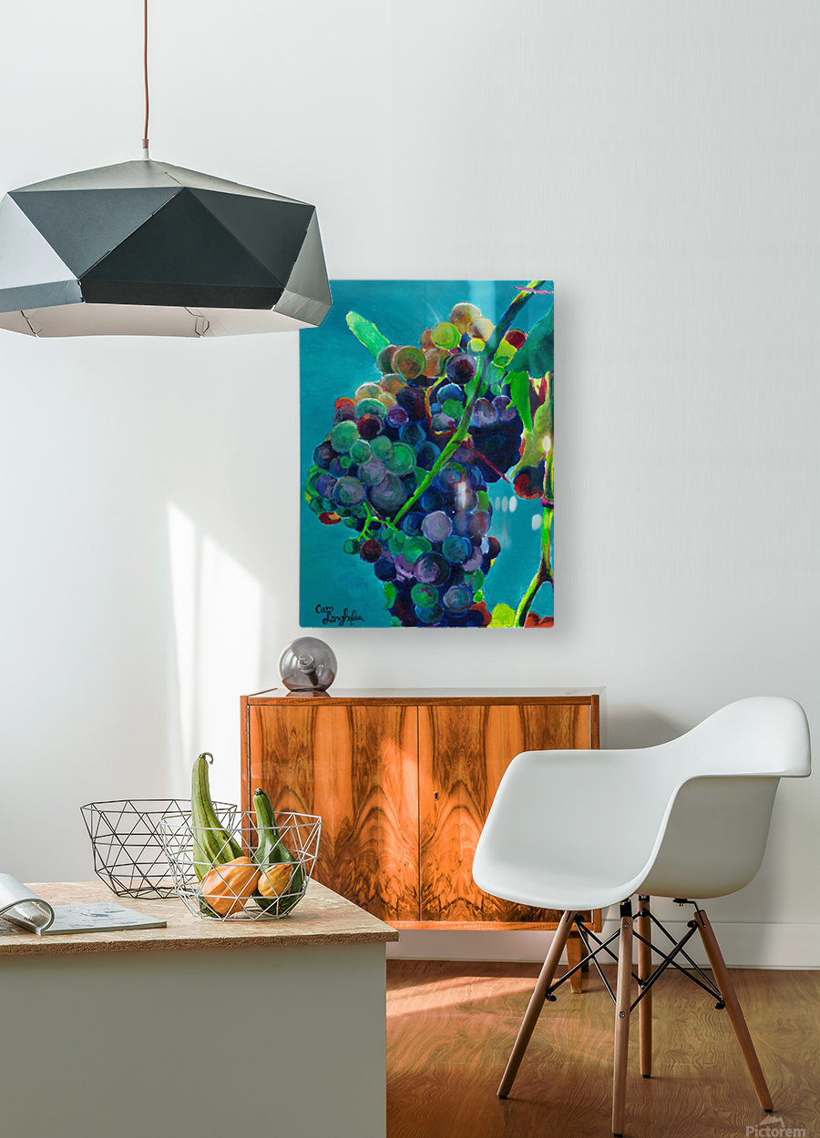 Grapes  HD Metal print with Floating Frame on Back