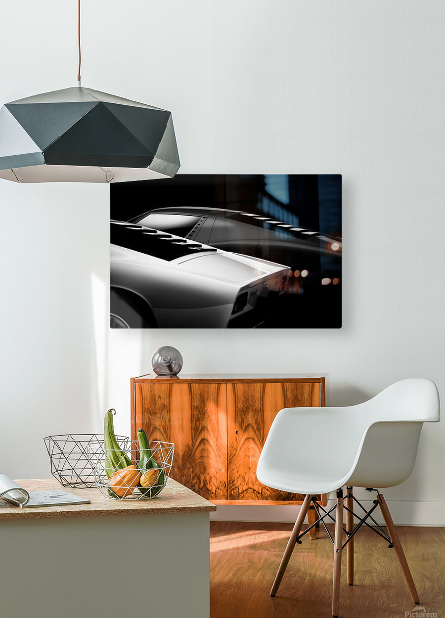 2 Miura  HD Metal print with Floating Frame on Back
