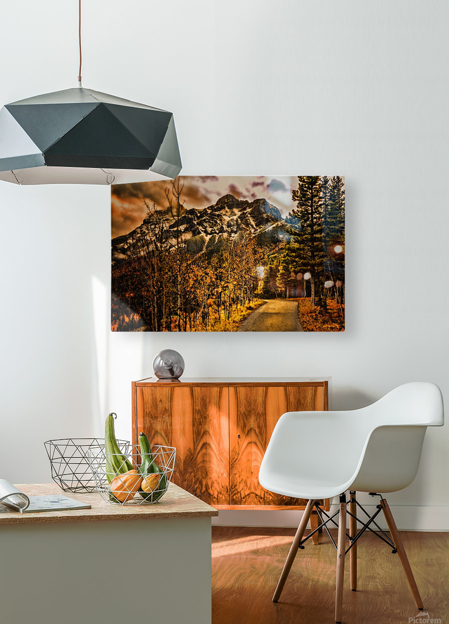 Rocky Mountain Way  HD Metal print with Floating Frame on Back