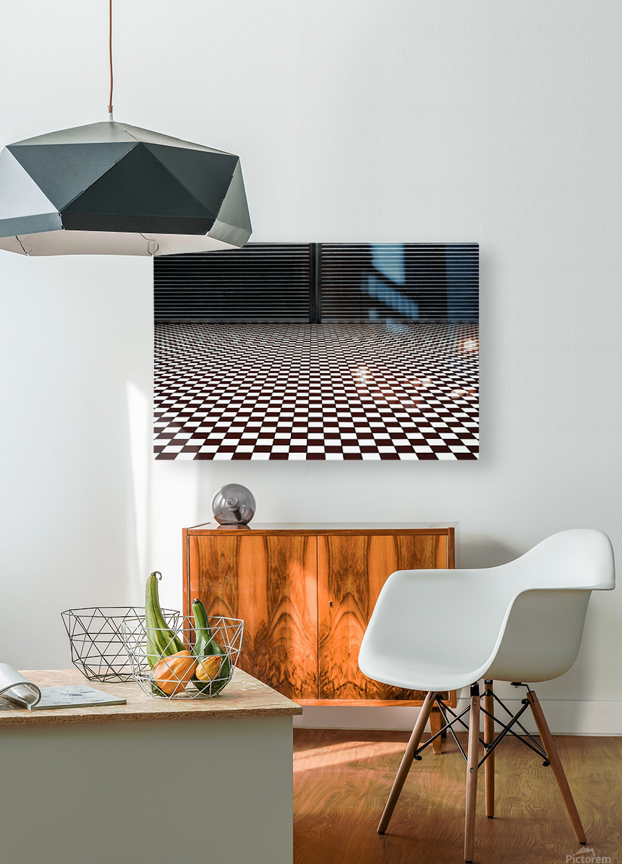 the hypnotic floor  HD Metal print with Floating Frame on Back