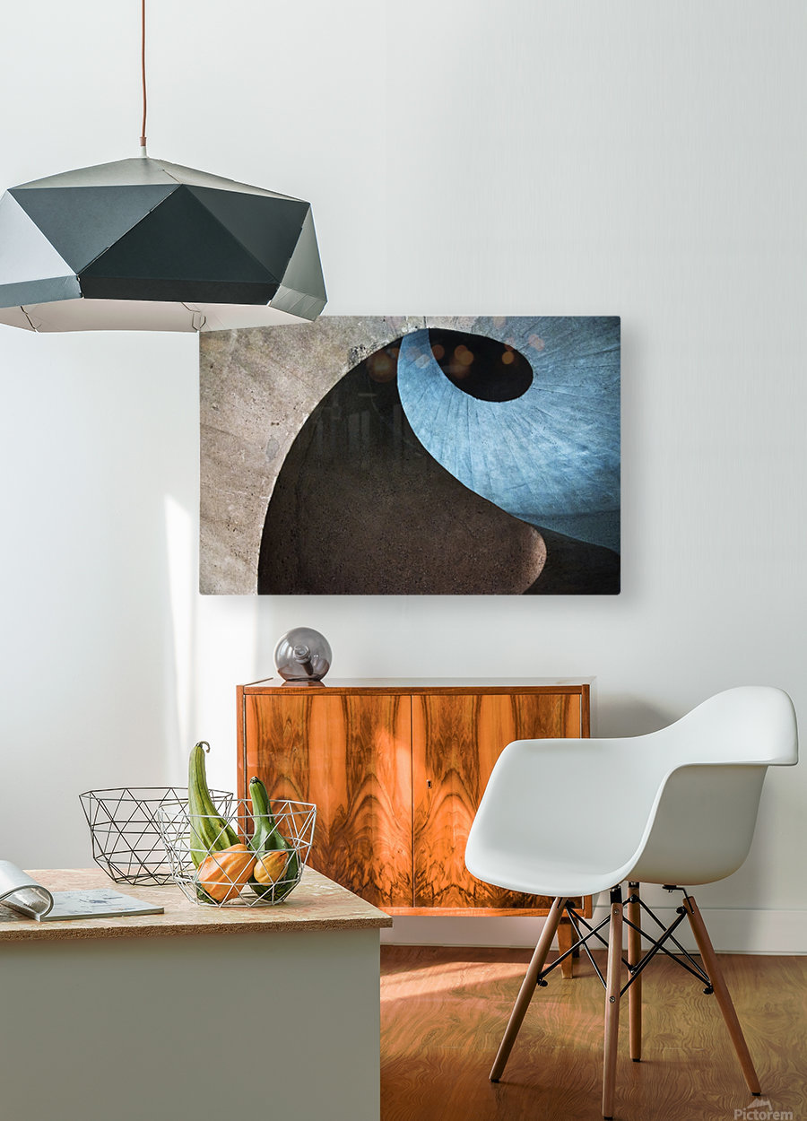 concrete wave  HD Metal print with Floating Frame on Back