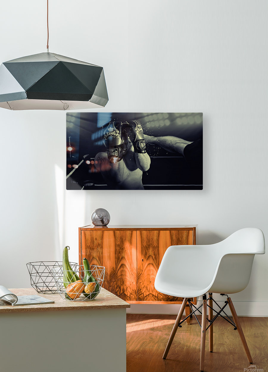 In the Glare of the Lights  HD Metal print with Floating Frame on Back