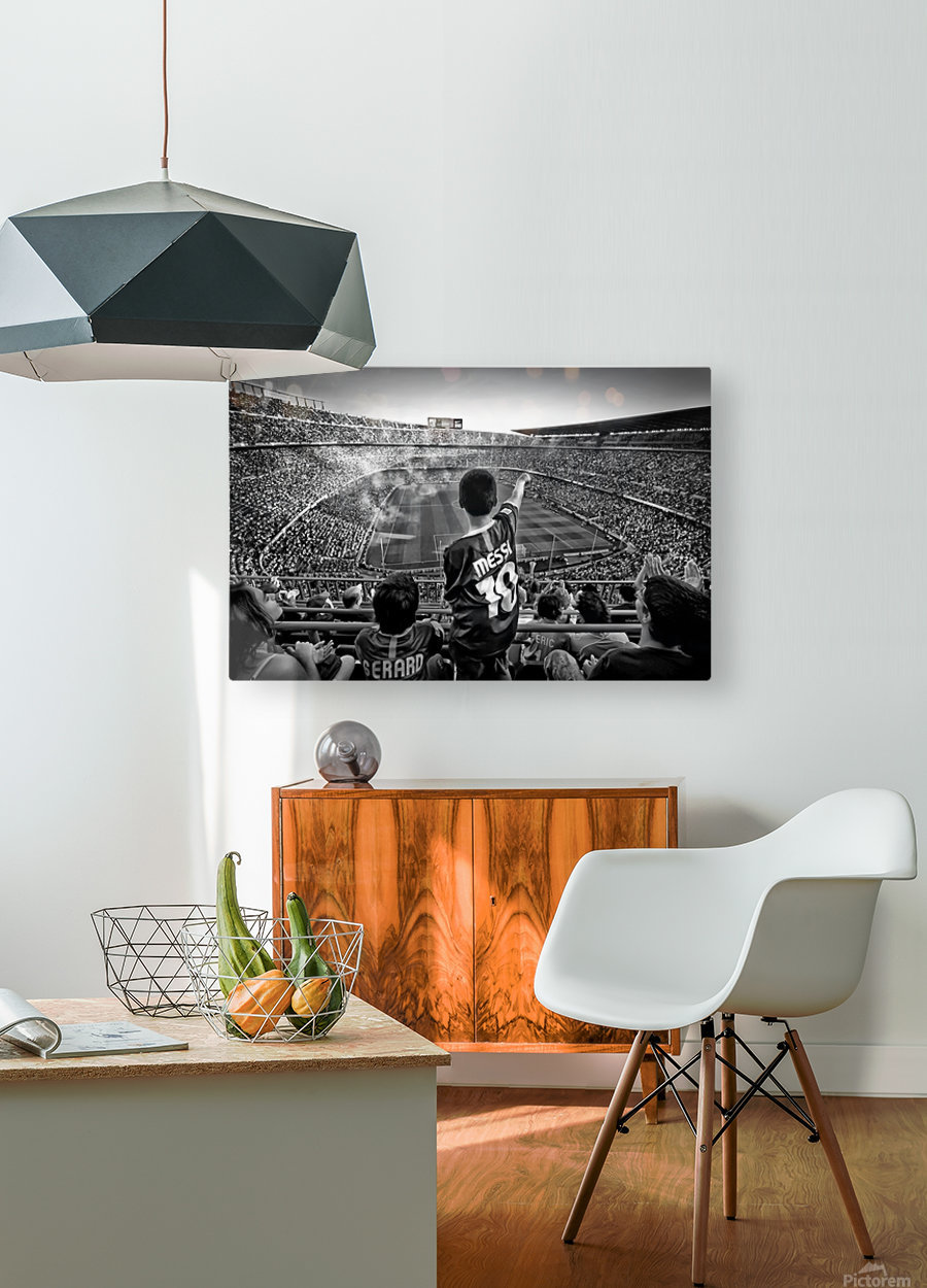 Cathedral of Football  HD Metal print with Floating Frame on Back
