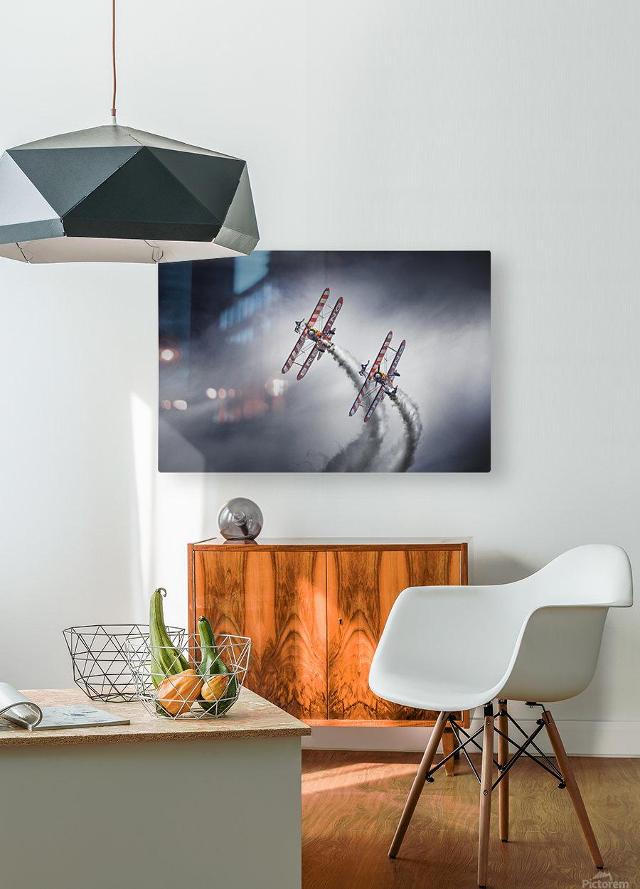 WingWalkers  HD Metal print with Floating Frame on Back
