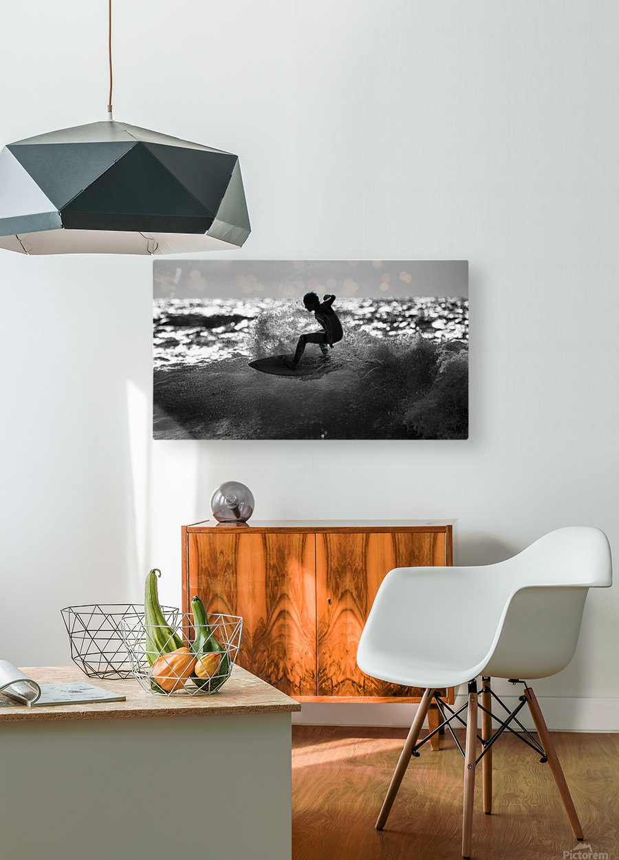 Ride  HD Metal print with Floating Frame on Back