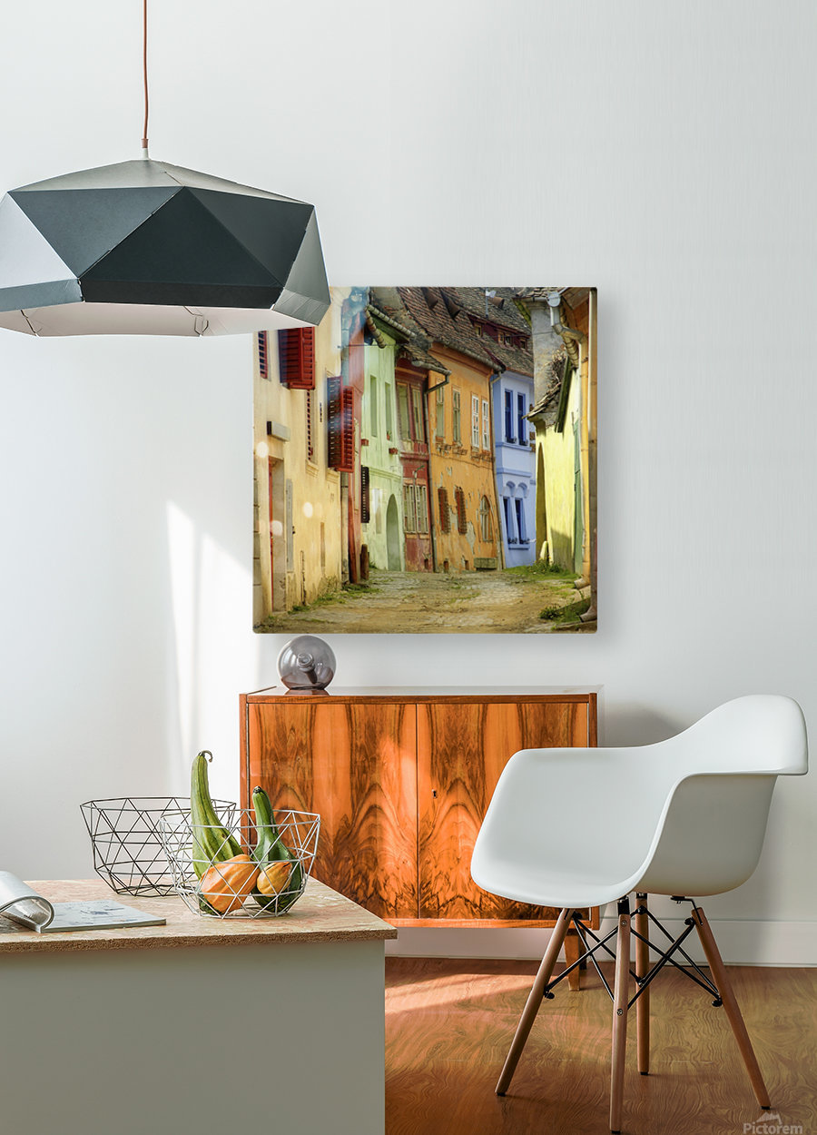 colors  HD Metal print with Floating Frame on Back