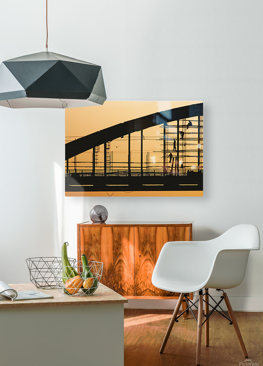 Remont  HD Metal print with Floating Frame on Back