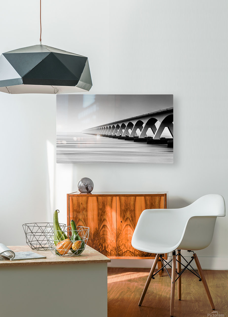 The Endless Bridge  HD Metal print with Floating Frame on Back