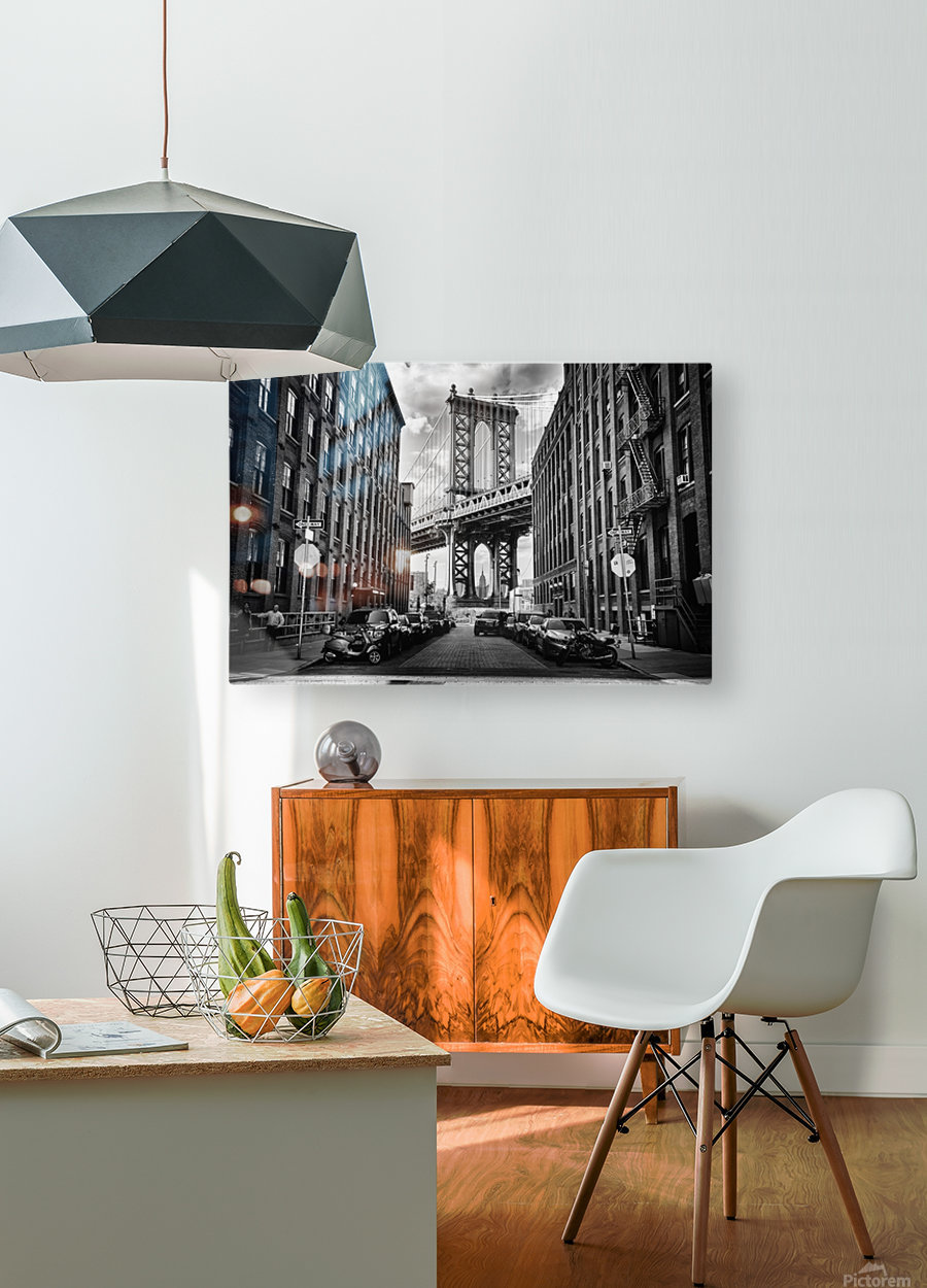 In America  HD Metal print with Floating Frame on Back