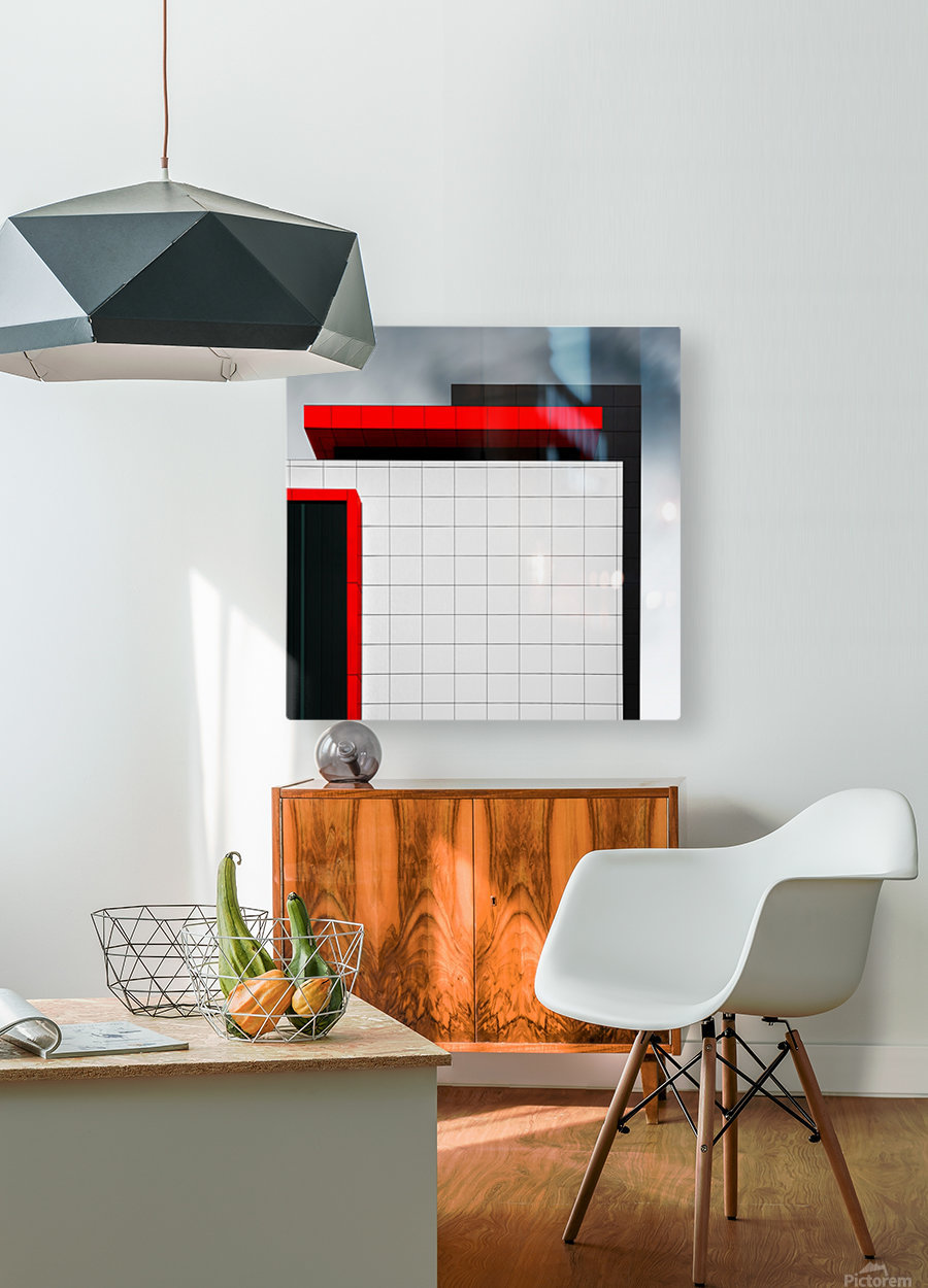 structure wal  HD Metal print with Floating Frame on Back