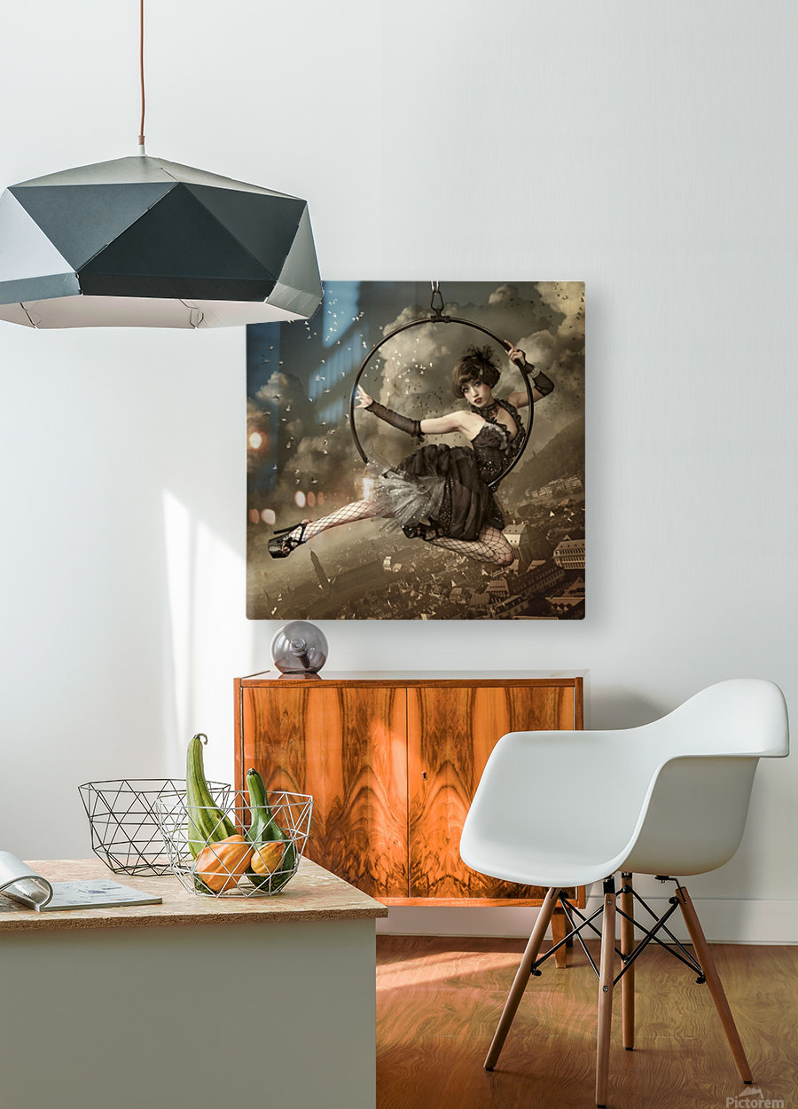 the greatest show in the sky  HD Metal print with Floating Frame on Back