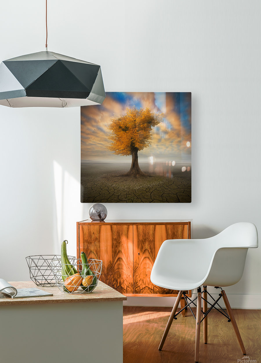 lonesome  HD Metal print with Floating Frame on Back