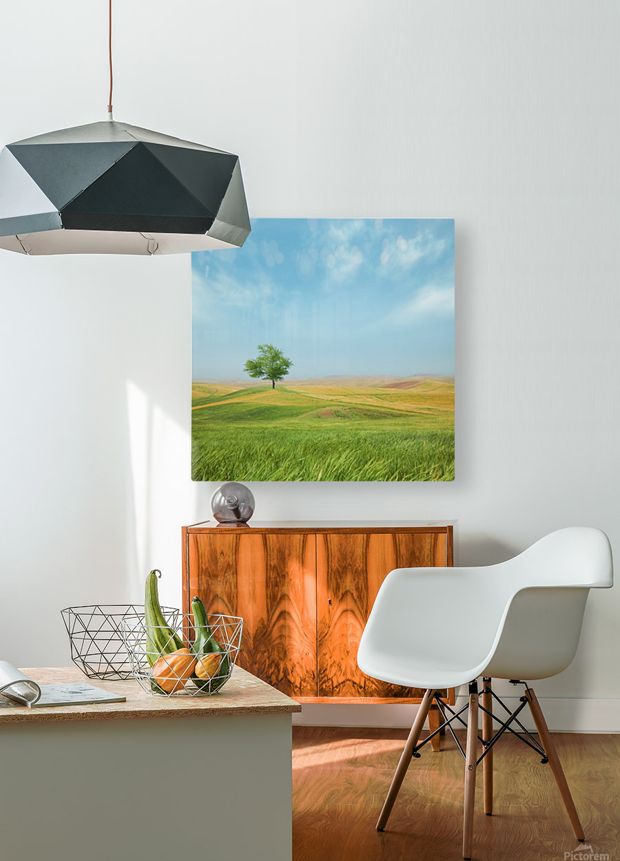 Everything is good  HD Metal print with Floating Frame on Back