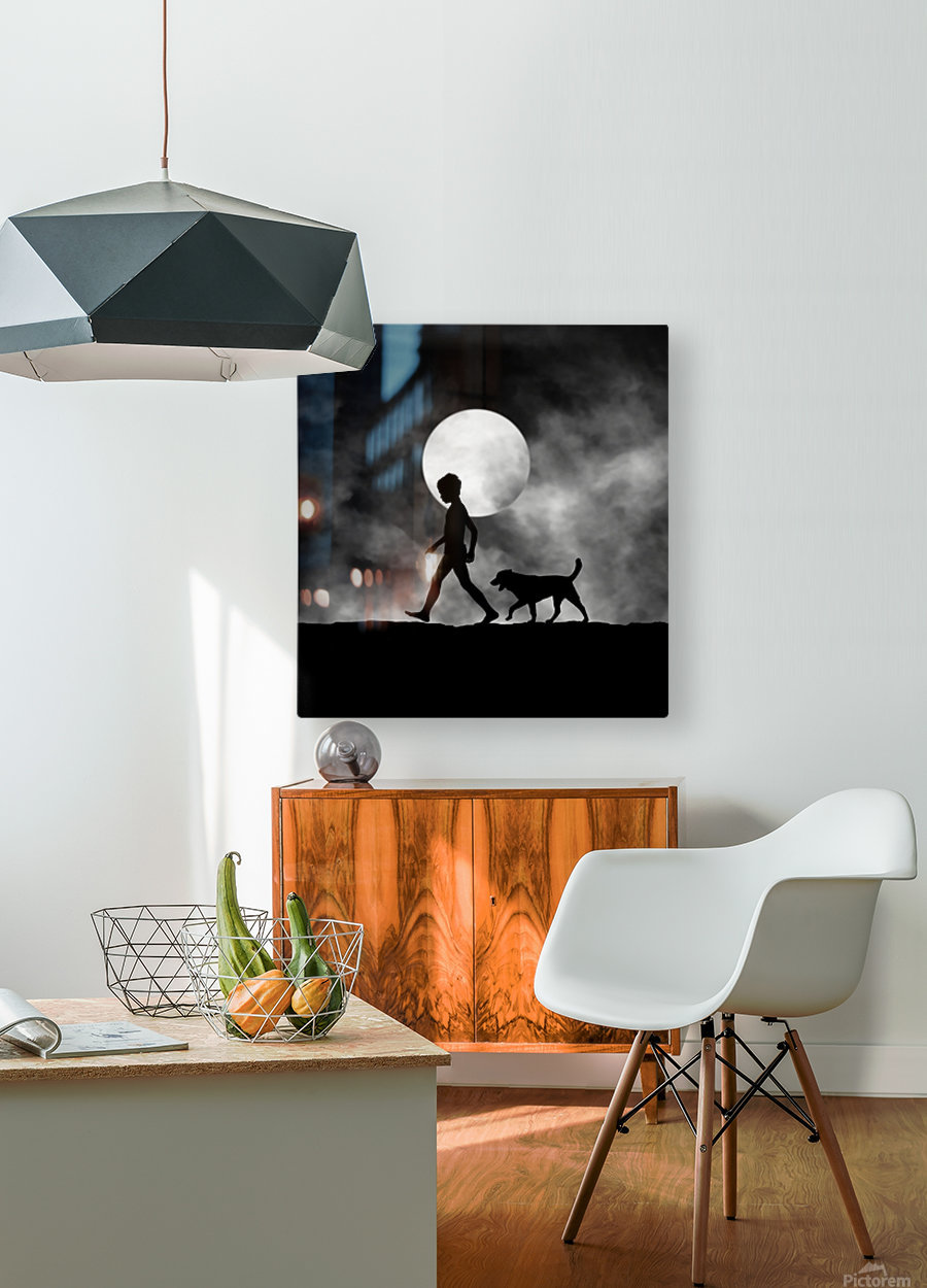 For All The Times  HD Metal print with Floating Frame on Back