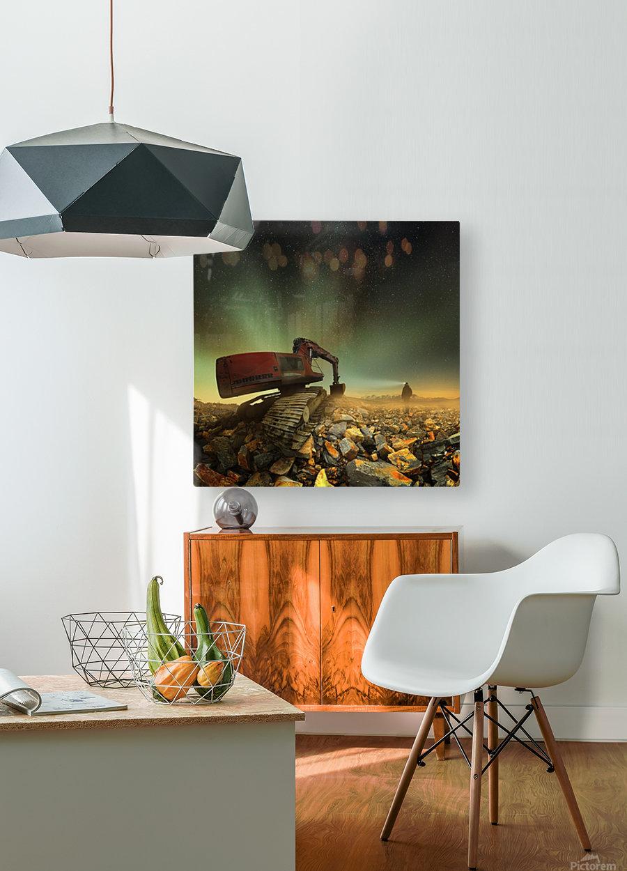 Goldherer  HD Metal print with Floating Frame on Back