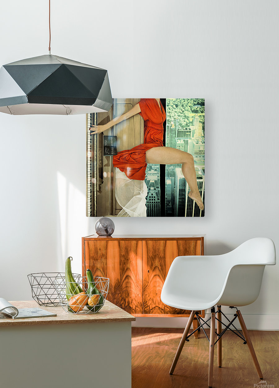 crescendo  HD Metal print with Floating Frame on Back