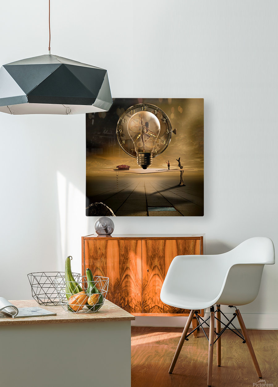 Even in the quietest Moment  HD Metal print with Floating Frame on Back