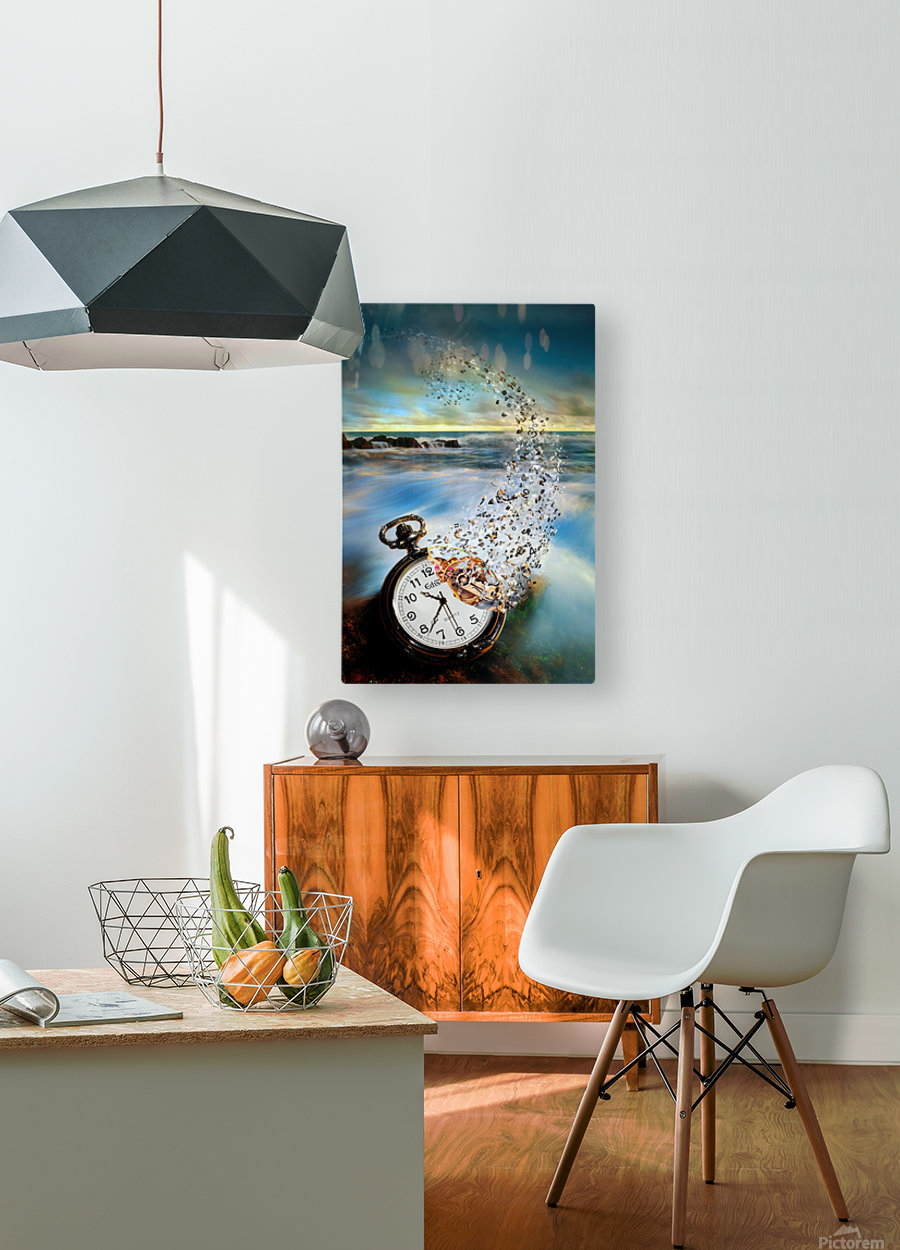 The Vanishing Time  HD Metal print with Floating Frame on Back