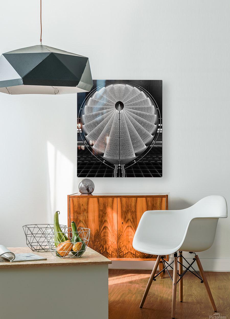 stepscircle  HD Metal print with Floating Frame on Back
