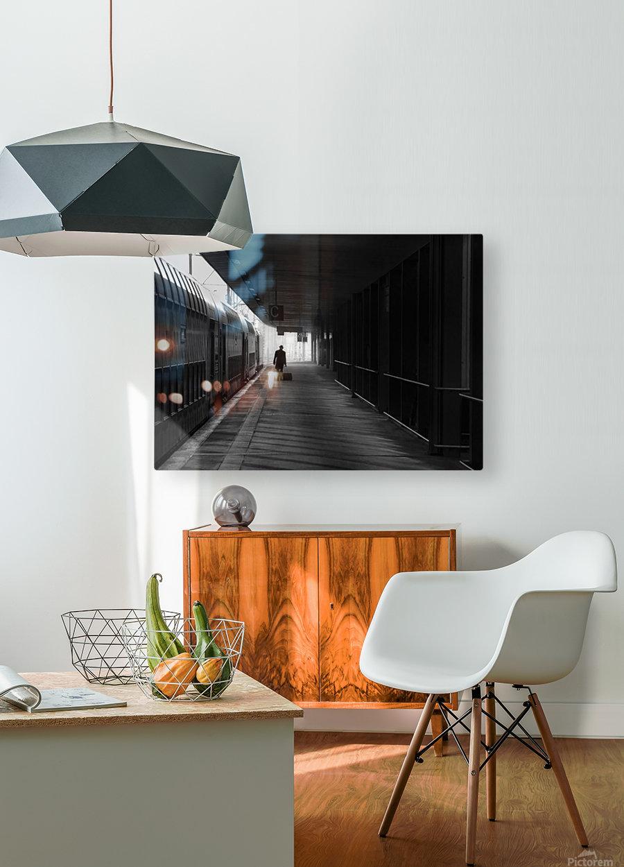 passenger  HD Metal print with Floating Frame on Back