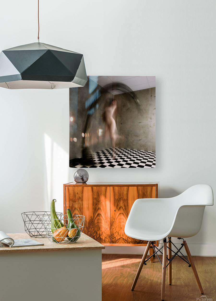 Feel the joy  HD Metal print with Floating Frame on Back