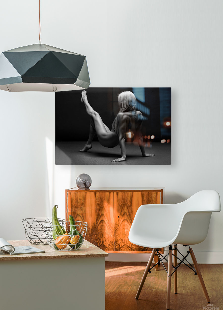 bodyscape  HD Metal print with Floating Frame on Back