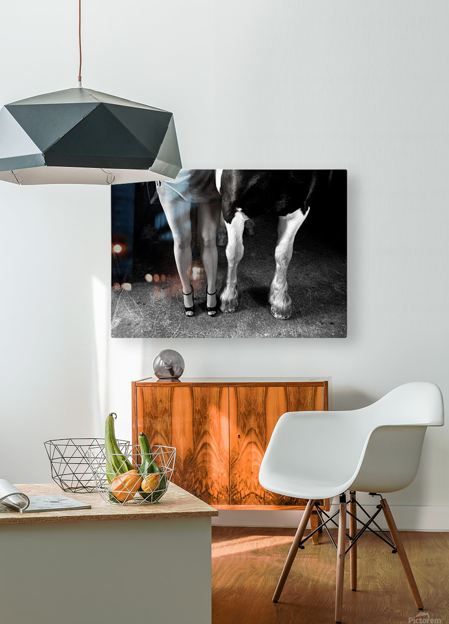 to cool one's heels  HD Metal print with Floating Frame on Back