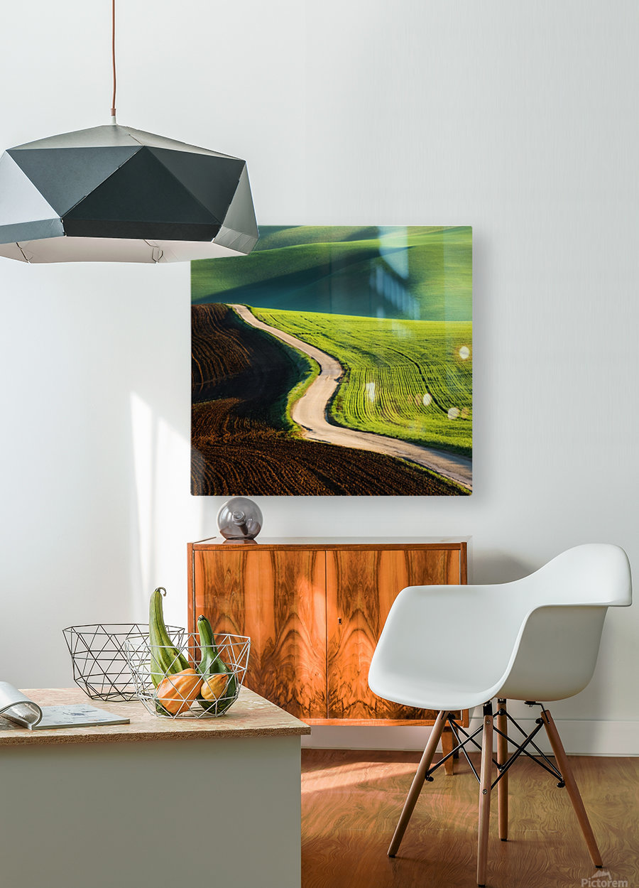 Road  HD Metal print with Floating Frame on Back