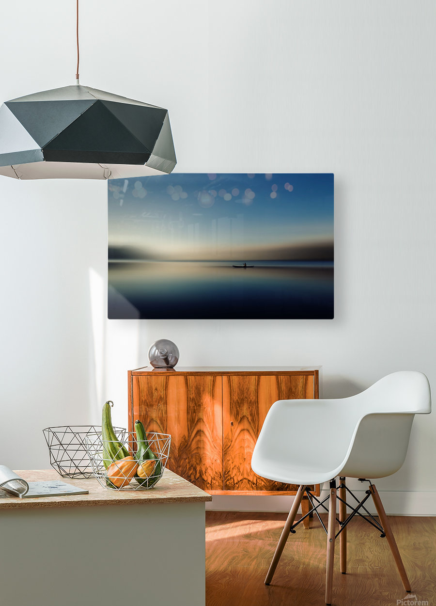 alone in somewhere  HD Metal print with Floating Frame on Back